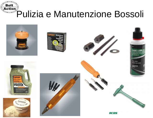 Pulizia e manutenzione Bossoli